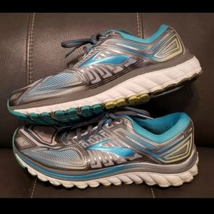 Brooks Glycerin G13 Athletic Shoes, Teal/White